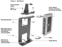 Wyse - Wall/VESA Mount and Power Bracket for C Class and S Class Wyse Thin Client